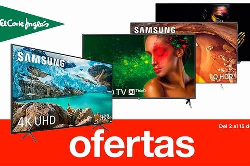 Ofertas en smart TVs en las Rebajas de El Corte Inglés: modelos de LG, Samsung, Hisense, Sony o Philips con descuentos de hasta el 28%