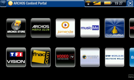 Películas precargadas en el Archos TV+