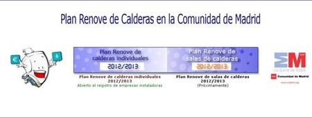 El Plan Renove de Calderas de la Comunidad de Madrid 2012/2013 ya está disponible, no te lo pierdas