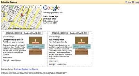 Google Maps ofrece cupones descuento