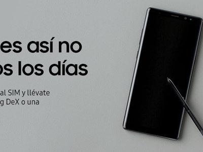 Samsung Galaxy Note 8 con 260 euros de descuento y, por 1 euro más, una MicroSD de 256GB o un Samsung DeX