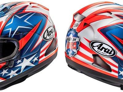 Arai dedica un homenaje a Nicky Hayden en forma de dos preciosos cascos especiales