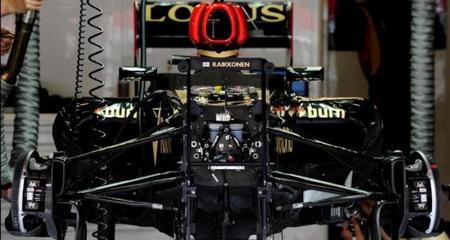 La suspensión delantera de Lotus E21 es ilegal