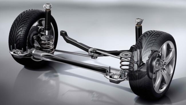 Timonería de Watt en el eje trasero del Opel Astra