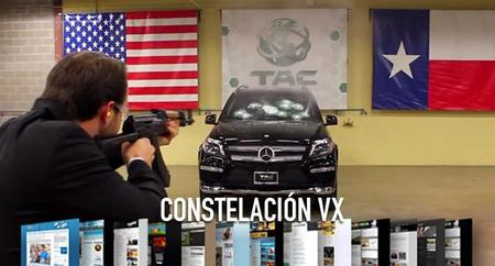 Análisis del Nexus 9 y recibiendo disparos de AK-47 en un Mercedes-Benz GL blindado. Constelación VX (CCXVII)