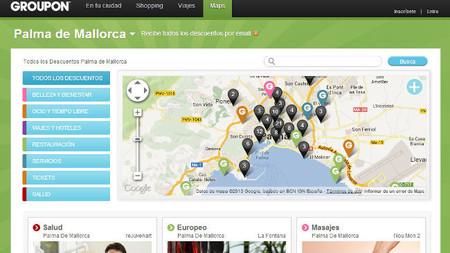 Groupon lanza un servicio de mapas para que las ofertas tengan más visibilidad