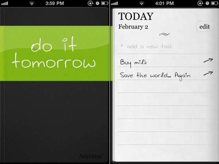 Task Manger App Do It Tomorrow Hd For Iphone Ipad And Ipod Touch 1