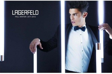 Baptiste Giabiconi, genial para el lookbook de Karl Lagerfeld Fall Invierno 2011/2012 una vez más