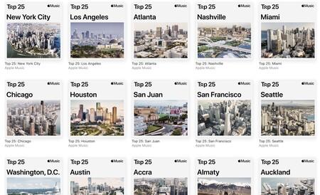Las listas de top 25 canciones por ciudad de Apple Music ya están disponibles