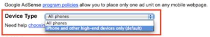 Google AdSense optimizado para los teléfonos más capaces