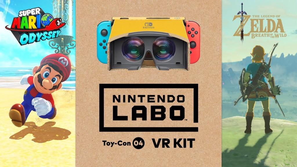 'Zelda: Breath of the Wild' y 'Super Mario Odyssey' se podrán jugar en realidad virtual con las nuevas gafas de Nintendo Labo