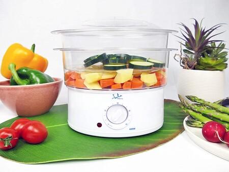 Jata Vapor Vaporera Cocina Sana Con 2 Cestas Capacidad De 3 5 L Deposito 500 Ml Incluye Recipiente Para Arroz O Salsas