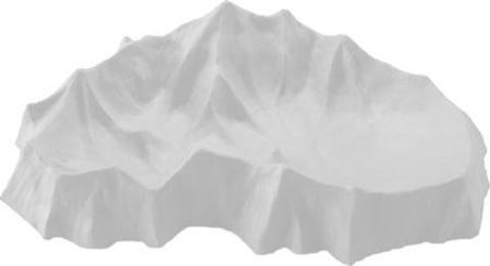 Plato para sopa topográfico