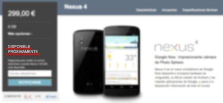Google Nexus 4 ¿agotado? en medio de la vorágine