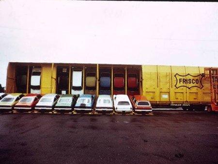Chevrolet Vega en trenes Vert-A-Pac