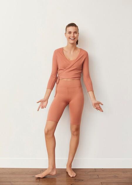 Camiseta cruzada ballet
