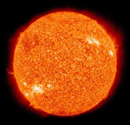 Sol Superficie Temperatura 5505 Grados Centigrados
