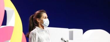 La reina Letizia vuelve a lucir el vestido con el que se midió en estilo con Kate Middleton y la reina Máxima de Holanda