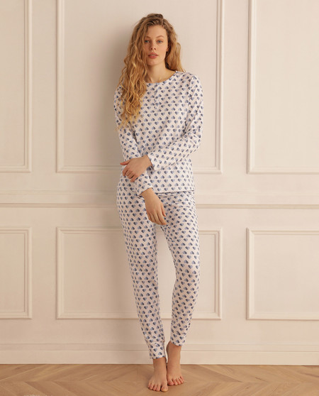 Pijama completo de mujer Summer Memories corazones