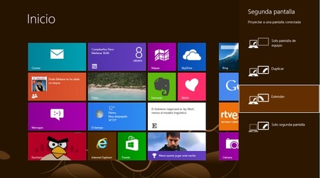 Cómo trabaja Windows 8 con varios monitores de forma simultánea