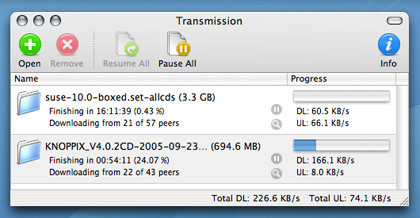 Transmission: Cliente BitTorrent para Mac