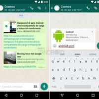 WhatsApp para Android vuelve a probar la previsualización de enlaces