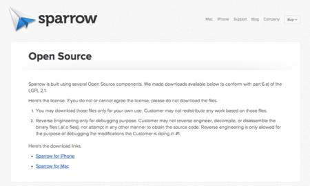 Sparrow libera parte de sus componentes y se ofrece como descarga gratuita