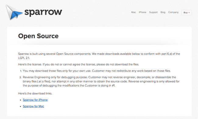 Sparrow Open Source