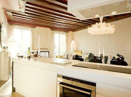 Cocina del apartamento de París.