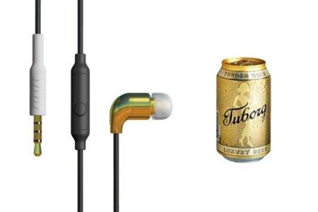 Auriculares inspirados en una lata de cerveza