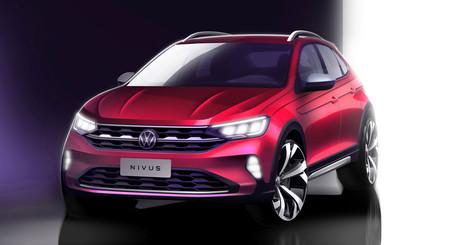 Hoy se desvelará el Volkswagen Nivus, pero este boceto nos adelanta algo más de su aspecto definitivo