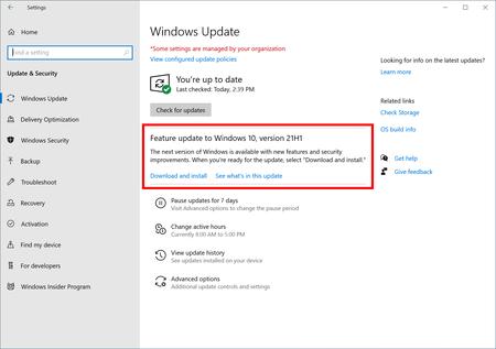 Microsoft anuncia Windows 10 May 2021 Update: ya se puede probar la actualización de primavera
