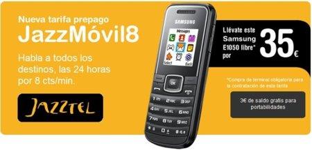 Jazztel móvil lanza su primera tarifa para tarjeta prepago