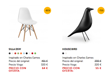 Buscando las mejores rebajas en muebles y complementos de diseño Cazando Gangas