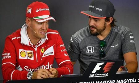 Alonso Vettel Mclaren Ferrari