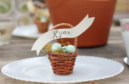 Mini cestos de Pascua para decorar la mesa en Semana Santa