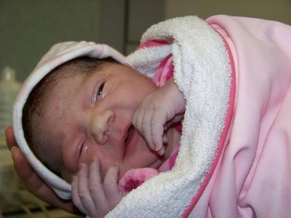 La foto de tu bebé: Paula recién nacida