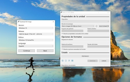 Además de crear USBs de arranque, Rufus 3.5 ahora permite descargar ISOs de Windows 10 y 8