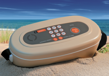 Mini caja fuerte para la playa