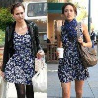 Con un mismo vestido: un estilismo de primavera y un look de verano