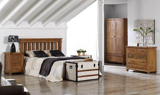 Camas y cabeceros de estilo r stico - Cabeceros de madera rusticos ...