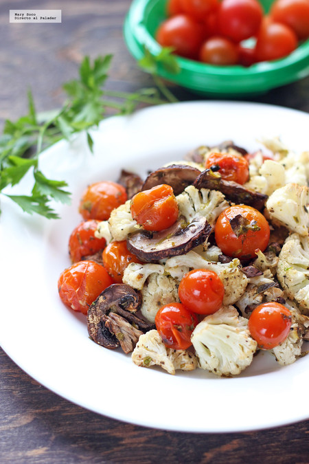 Verduras asadas a la italiana. Receta saludable