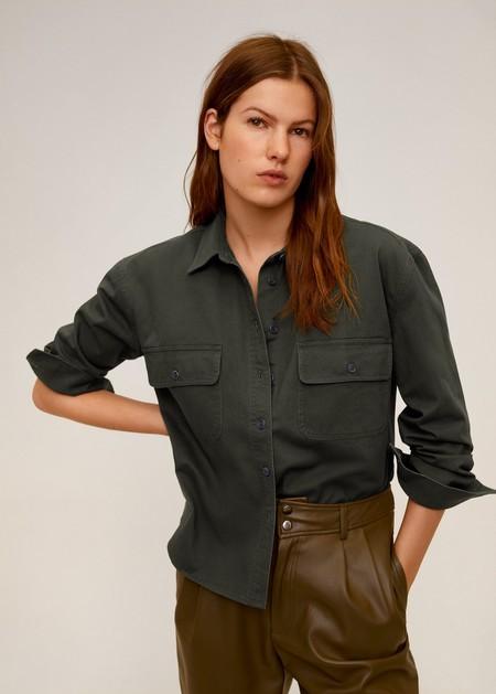Camisa algodón bolsillos