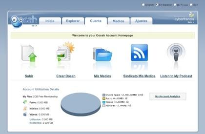 Oosah, almacena tus contenidos multimedia en 2 GB de espacio y combínalos
