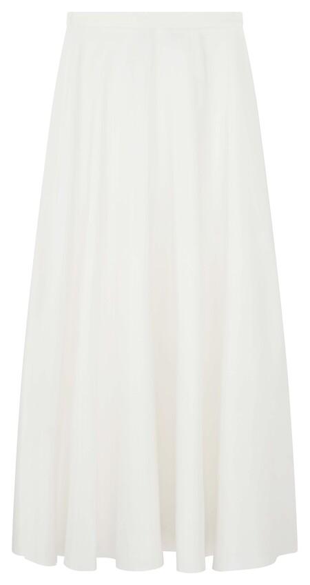 Asos Edition Satin Full Maxi Skirt In Ivory Gbp65 Mid Feb