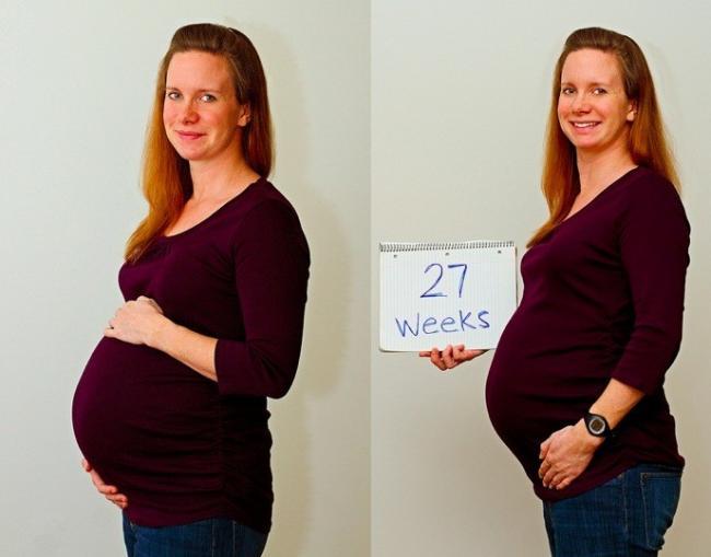 Semana 27 de embarazo - Con cuantos meses se sienta un bebe ...