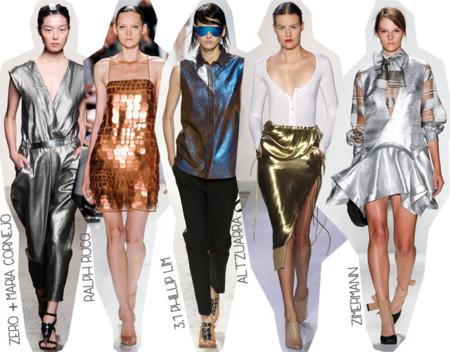 Semana de la Moda de Nueva York Primavera Verano 2014 Tendencias Tonos metalizados
