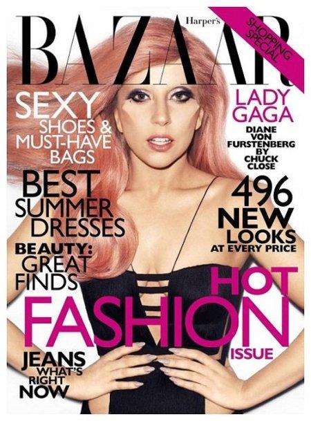 Lady Gaga en Harper's Bazaar USA y distintas Elle. ¿Con qué portada te quedas?