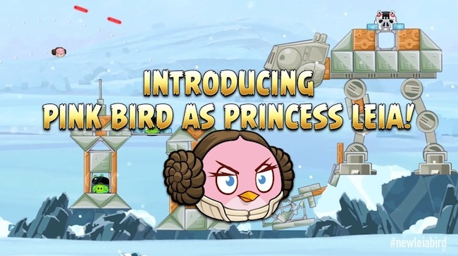 star wars angry birds leia