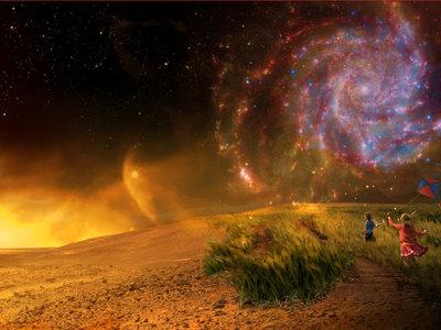 Podemos caminar en la superficie de planetas 100 veces más grandes que la Tierra y sin casi notarlo